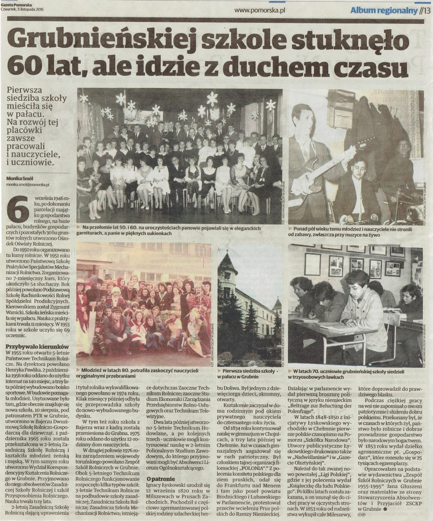 60 lecie szkoły
